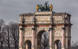 Arc de Triomphe du Carrousel Photographie stock libre de droits