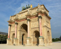 The Arc de Triomphe du Carrousel built in 1806 for Napoleon. The Arc de Triomphe du Carrousel built in 1806 for Napoleon in Paris France Royalty Free Stock Photo