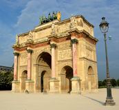 The Arc de Triomphe du Carrousel built in 1806 for Napoleon. Royalty Free Stock Photos