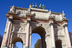 Arc de Triomphe du Carrousel en París Fotografía de archivo libre de regalías
