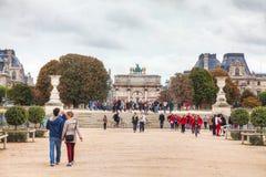 Arc de Triomphe du Carrousel en París Imágenes de archivo libres de regalías