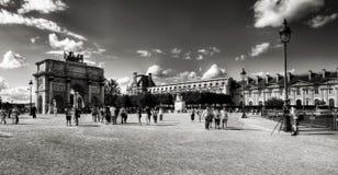 Arc de Triomphe du carrousel i Paris Arkivfoton