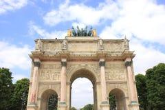 Arc de Triomphe du Carrousel at Jardin des Tuileries. In Paris,France Stock Image