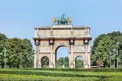 Arc de Triomphe du Carrousel located  outside the Louvre, Paris, France Royalty Free Stock Photo