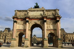 Arc de triomphe du Carrousel Stock Photo