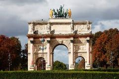 Arc de Triomphe du Carrousel, París Imagen de archivo