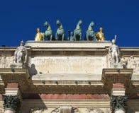 Arc de Triomphe du Carrousel, París Francia Imagen de archivo libre de regalías