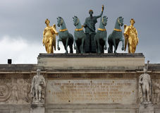 Arc de Triomphe du Carrousel, Parigi Francia Fotografia Stock