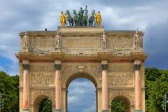 Arc de Triomphe du Carrousel. Parigi, Francia. Fotografia Stock Libera da Diritti