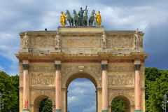 Arc de Triomphe du Carrousel. Parijs, Frankrijk. Royalty-vrije Stock Fotografie