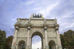 Arc de Triomphe du Carrousel in Paris.  Royalty Free Stock Photo