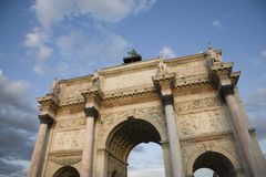 Arc de Triomphe du Carrousel, Paris Royalty Free Stock Photo