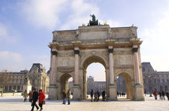 Arc de Triomphe du Carrousel, Paris Stock Photography