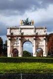 Arc de Triomphe du Carrousel , Paris. Arc de Triomphe du Carrousel at Place du Carrousel, Paris, France, which was designed by Charles Percier and Pierre Stock Photos