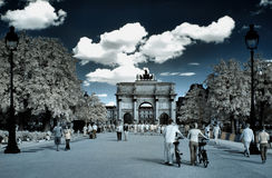 Arc de triomphe du carrousel in Paris Royalty Free Stock Photography