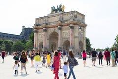 Arc de Triomphe du Carrousel. In Paris Stock Image