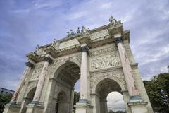 Arc de Triomphe du Carrousel in Paris.  Royalty Free Stock Photos