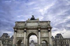 Arc de Triomphe du Carrousel in Paris.  Stock Photo