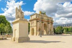 Arc de Triomphe du Carrousel in paris. The Arc de Triomphe du Carrousel is a triumphal arch in Paris, located in the Place du Carrousel. It was built between Stock Photos