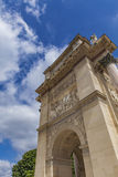 Arc de Triomphe du Carrousel in Paris. Detail of the Arc de Triomphe du Carrousel in Paris, France Royalty Free Stock Photos