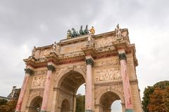 Arc de Triomphe du Carrousel in Paris. France Stock Photos