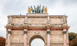 Arc de Triomphe du Carrousel in Paris. France Stock Image