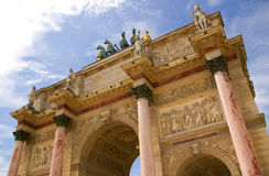 Arc de Triomphe du Carrousel, Paris, France. Arc de Triomphe du Carrousel, Paris Royalty Free Stock Photos