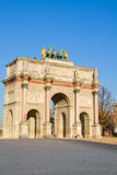 Arc de Triomphe du Carrousel, Paris, France. Arc de Triomphe du Carrousel outside of Louvre in Paris, France Stock Photo