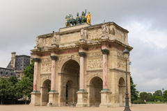Arc de Triomphe du Carrousel. In Paris, France Royalty Free Stock Image