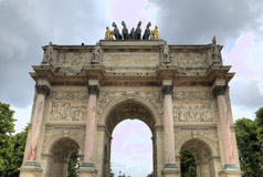 The Arc de Triomphe du Carrousel. Stock Image