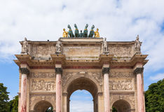 Arc de triomphe du carrousel in Paris - France Royalty Free Stock Image