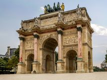 Arc de Triomphe du Carrousel. Paris, France Royalty Free Stock Image