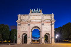 Arc de Triomphe du Carrousel à Paris, France Photographie stock