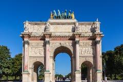 Arc de Triomphe du Carrousel. In Paris, France Stock Photos