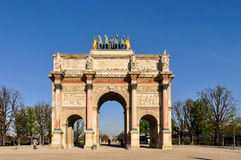 The Arc de Triomphe du Carrousel. In Paris, France Royalty Free Stock Images