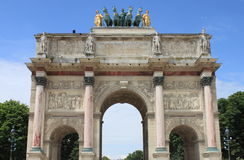 Arc de Triomphe du Carrousel in Paris. France Stock Photography