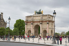 Arc de Triomphe du Carrousel in Paris. France Royalty Free Stock Images