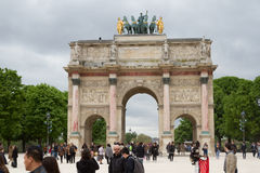 Arc de Triomphe du Carrousel in Paris. France Royalty Free Stock Photography