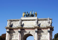 Arc de Triomphe du Carrousel. In Paris, France Royalty Free Stock Photo