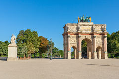 Arc de Triomphe du Carrousel. Arc de Triomphe du Carrousel in Paris, France Royalty Free Stock Photography