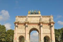 The Arc de Triomphe du Carrousel in Paris, France. Architectural detail of the Arc de Triomphe du Carrousel in Paris, France Stock Images