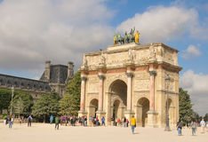 The Arc de Triomphe du Carrousel in Paris, France Stock Image