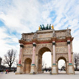 The Arc de Triomphe du Carrousel in Paris. PARIS, FRANCE - MARCH 5: The Arc de Triomphe du Carrousel. It was built between 1806 and 1808 to commemorate Napoleon' Royalty Free Stock Photography