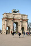 Arc de Triomphe du Carrousel in Paris Stock Photography