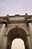 The Arc de Triomphe du Carrousel. Paris, France - September 5, 2014: The Arc de Triomphe du Carrousel Royalty Free Stock Photo