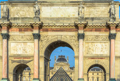 Arc de Triomphe du Carrousel,Paris, France Royalty Free Stock Image