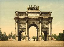 Arc de Triomphe, du Carrousel, Paris, France. A view of the Carrousel arch in Paris Stock Image