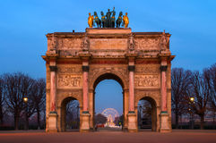 Arc de Triomphe du Carrousel in Paris, France Royalty Free Stock Photos
