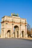 Arc de Triomphe du Carrousel, Paris, Frankrike Arkivfoto