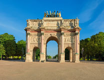 Arc de Triomphe du Carrousel in Paris, front view Royalty Free Stock Photo
